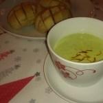 Brokkoli Cremesuppe mit Paprika und Süsskartoffel