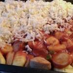 Currywurstauflauf