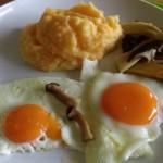 Möhren-Kartoffel-Stampf und Spiegelei
