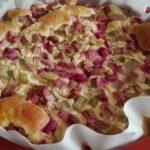 saftiger Rhabarberkuchen mit Pudding